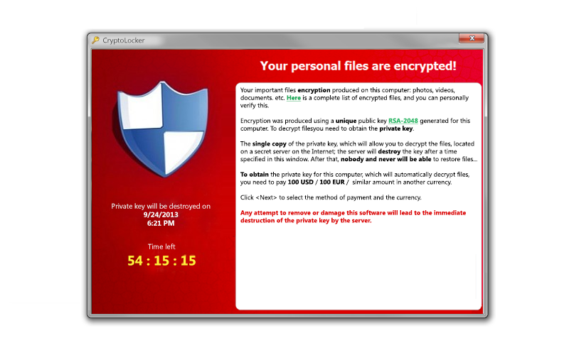 Cryptolocker Example